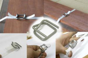 Пряжка металлическая (проволочная)для скрепления ленты