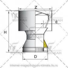 Дефлектор DDH d 104 полированный