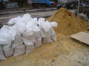 Песок в мешках (45 кг)