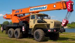 Автокран Клинцы КС-55713-3К-1 на шасси Урал-5557