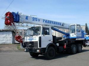 Автокран КС-55713-6В шасси МАЗ 6303А3 г/п 25т, длина стрелы 28 м