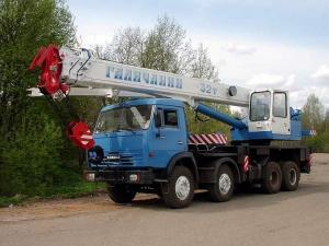 Автокран КС-55729-1В автокран Галичанин 32т. с гуськом