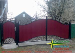 Заборы, ворота, калитки из профнастила. Изготовление, монтаж