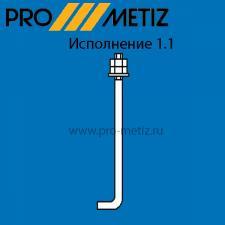 Болт фундаментный изогнутый тип 1 исполнение 1 М24х500 09г2с ГОСТ 24379.1-2012