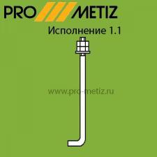 Болт фундаментный изогнутый тип 1 исполнение 1 М24х900 09г2с ГОСТ 24379.1-2012
