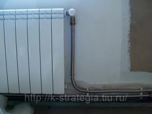Гибкие гофрированные нержавеющие шланги для подключения радиаторов