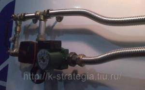 Смесительные узлы из гибких нержавеющих труб и подводок