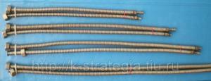 Сильфонные подводки (пара) для смесительных кранов длина 40см