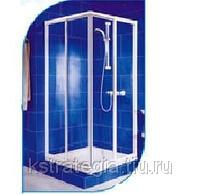 Душевой уголок 770х770х1750 мм 2 стенки закаленное стекло