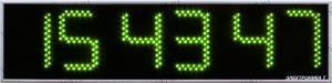 Часы Электроника7-2170С6, зелёное свечение