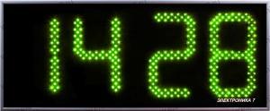Часы Электроника7-2270С4, зелёное свечение