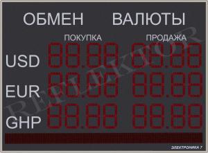 Табло валют Электроника7-1210-241