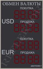 Табло валют Электроника7-1210-162