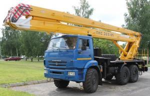 Автовышка ПМС-328-04 на шасси КамАЗ-5350