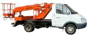 Автовышка АПТ-12 на шасси ГАЗ-3302 Газель