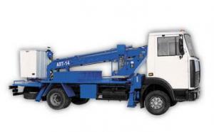 Автовышка АПТ-14 на шасси МАЗ-437041