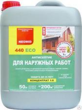 Антисептик для защиты древесины трудновымываемый Neomid 440 ECO конц-т 1:9