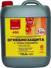 Раствор биопирен огнебиозащитный состав для древесины Neomid 450 готовый,
