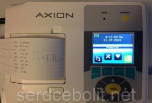 Электрокардиограф трехканальный ЭК1Т-1/3-07 Аксион с цветным дисплеем