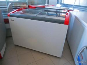 Ларь морозильный Gellar FG 450 Е (гнутое стекло) 5 корзин