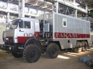 Мобильная лаборатория исследования скважин на шасси Камаз 43118