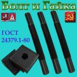 Болт фундаментный с анкерной плитой тип 2.1 М16х900 09г2с ГОСТ 24379.1-80
