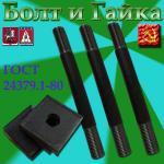 Болт фундаментный с анкерной плитой тип 2.1 М16х300 09г2с ГОСТ 24379.1-80