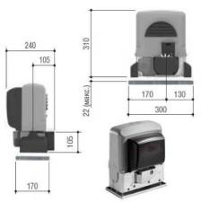 Двигатель раздвижных ворот BX-64 CAME (комплект)