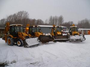 Техника для уборки снега. Самосвалы, погрузчики