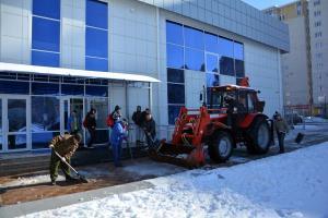 МТЗ Уборка снега с последующим вывозом