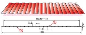 Профилированный лист С-8х1150