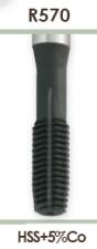 Метчики машинные бесстружные с утолщенным хвостовиком для метрической резьбы Carmon R570 DIN 371