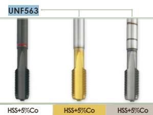 Метчик машинный для нарезание резьбы UNF для глухих отверстий Carmon UNF563