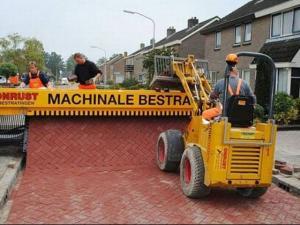 Машина для укладки тротуарной плитки Tiger stone