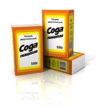 Бикарбоната натрия (сода пищевая) в мешках (25,40 кг), в картонных пачках (0,5 кг)