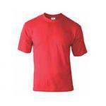 Мужская футболка красная (кулирка, размеры 42-60, артикул Ф-2)