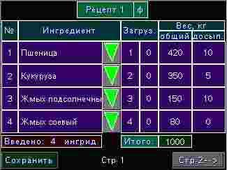 Система управления машины по производству комбикорма