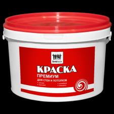 Краска «Бригада» для стен и потолков Премиум супербелая (ведро 14 кг)