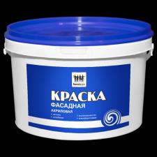 Краска «Бригада» фасадная супербелая (ведро 14 кг)
