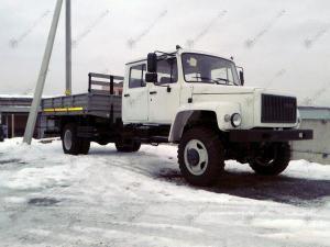 Егерь ГАЗ-33086 бортовой со сдвоенной кабиной двигатель ММЗ Д-245