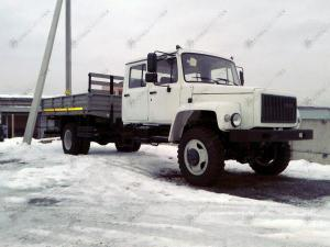 Егерь ГАЗ-33086 бортовой со сдвоенной кабиной