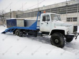 Полноприводный эвакуатор ГАЗ-33081 Садко с ломаной платформой