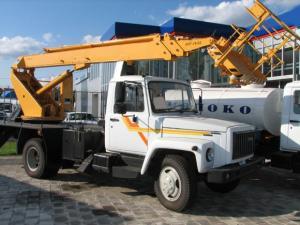 Автовышка АПТ-18.02 на шасси ГАЗ-3309