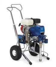 Окрасочный аппарат GMax 3900 применяют для различных видов окрасочных работ, от отделочных работ, до нанесения антикоррозии и огнезащиты. Преимущество данного аппарата заключается в его автономности. Бензиновый двигатель Honda, мощностью 3 кВт позвол