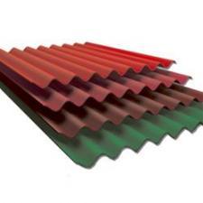 шифер цветной 1,75х0,98 (зелёный, краснокоричневый