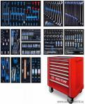 Набор инструментов в красной тележке, 286 предметов KING TONY