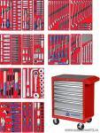 Набор инструментов в красной тележке, 204 предмета KING TONY 934A-100MR