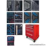 Набор инструментов в красной тележке, 173 предметов KING TONY 932A-000MR