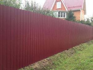 Забор из профнастила 2м высотой