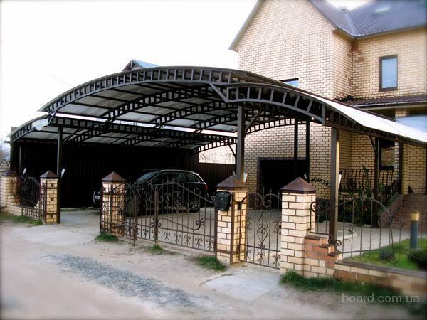 ворота и навесы из поликарбоната одесса